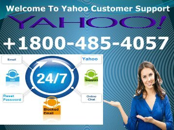 Yahoo Mail+1800-485-4057 Yahoo Customer Care Number