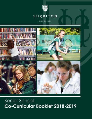 Senior School Co-curricular 2018
