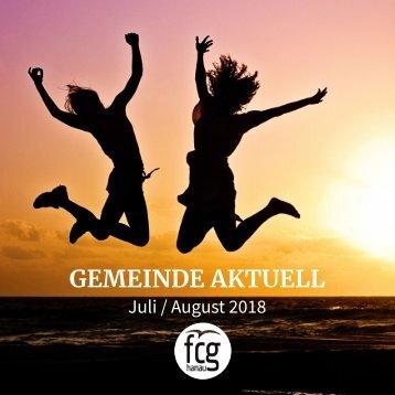 Gemeinde Aktuell - Juli/August 2018