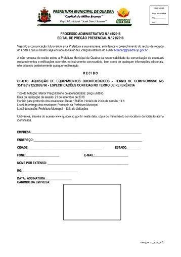 PP 21_2018_Equipamentos Odontológicos_Edital e Anexos
