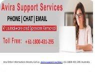 Avira support phone number Australia + 61-1800-431-295