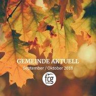 Gemeinde Aktuell - September/Oktober 2018