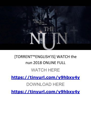 [TORRENT™ENGLISH'IS] WATCH the nun 2018 ONLINE FULL