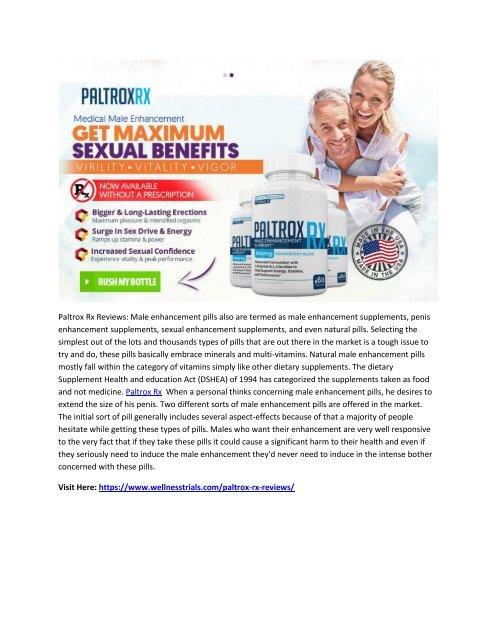 Paltrox Rx Reviews Increase Your Physical Performance With His