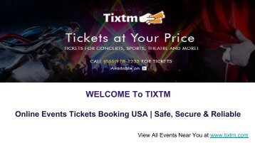 Online Events Tickets Booking