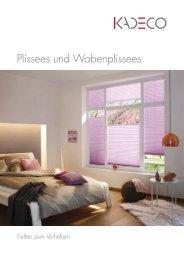 Kadeco Plissees und Wabenplissees