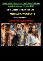 ONLINE SATYAMEVA-JAYATE Full Movie Online FREE on TELUGU TAMIL 850MB DOWNLOAD