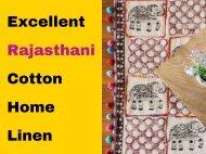 Excellent Rajasthani Cotton Home Linen
