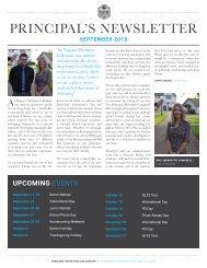 Principal's Newsletter September 2018