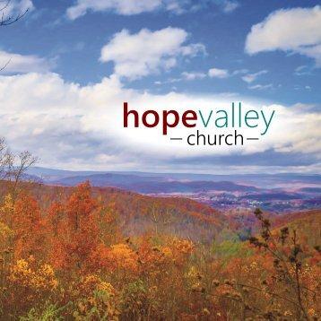 Hope Valley Church Prospectus