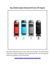 Buy Online Aspire Breeze Kit from LYX Vapors