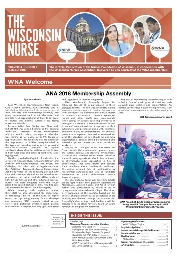 The Wisconsin Nurse - October 2018