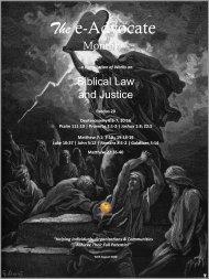 Biblical Law & Justice