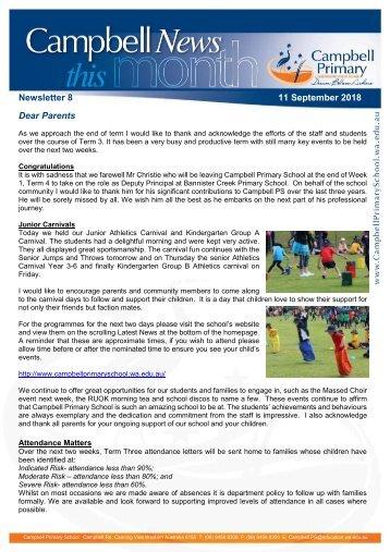 Newsletter 8 11 September 2018 COPY