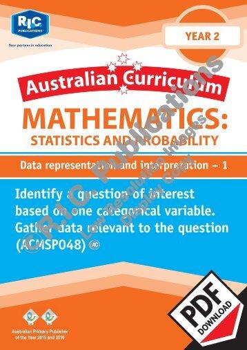 RIC-20255 ACM Statistics and Probability Year 2 Data representation and interpretation 1