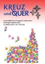 Gemeindebrief evangelische Gemeinde Kronach Mai - Juli 2018