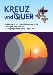 Gemeindebrief evangelische Gemeinde Kronach Februar - April 2018
