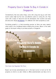Property Guru's Guide To Buy A Condo in Singapore