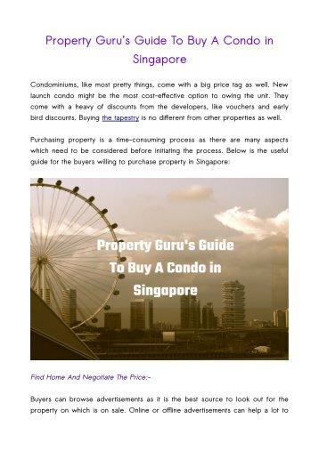 Property Guru's Guide To Buy A Condo in Singapore