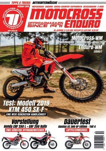 Motocross Enduro Ausgabe 10/2018