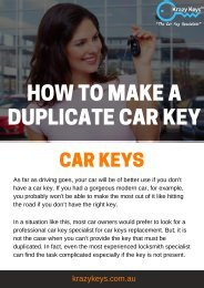 How to Avoid Extra Expense on Duplicate Car Keys | Krazy Keys