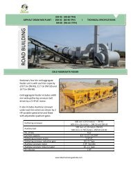 portable Mobile asphalt drum mix plants work process & machinery information