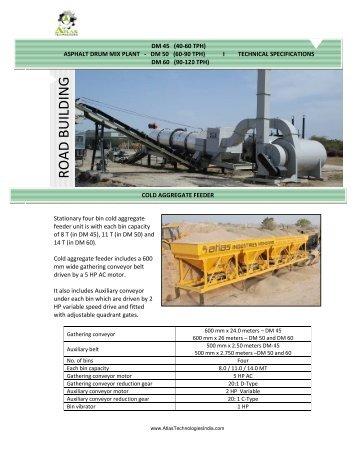 portable Mobile asphalt drum mix plants work process & machinery information
