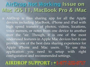 AirDrop Not Working Issue on Mac iOS 11, MacBook Pro & iMac