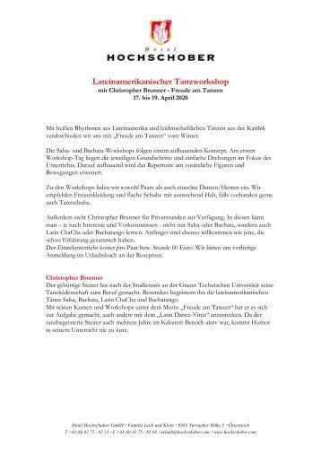 HS Programm Lateinam Tanz Christopher Brunner 2019