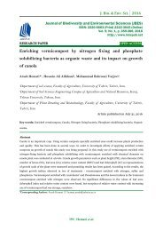 Enriching vermicompost by nitrogen fixing and phosphate solubilizing bacteria as organic waste and its impact on growth of canola
