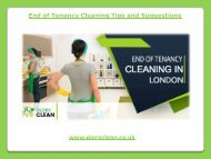End of Tenancy Cleaning Tips and Suggestions