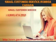 Gmail Customer service number Canada