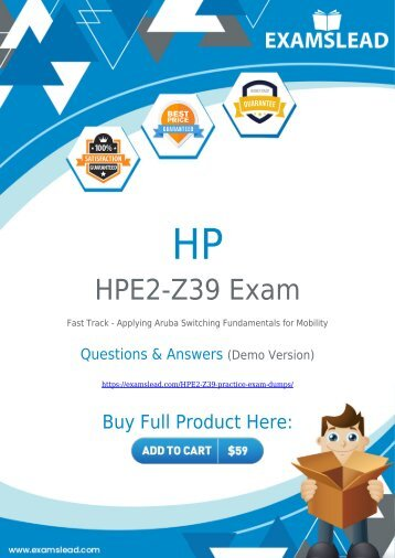 HPE2-Z39 Exam Dumps - Pass your HP HPE2-Z39 Exam in First Attempt