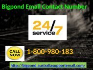 Bigpond Email Contact Number 1-800-908-183| Recover Blocked Account