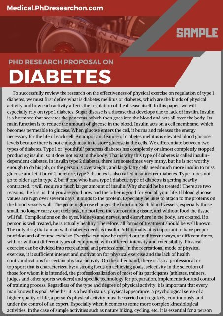 sample research paper on diabetes