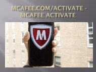 Mcafee mtp retail card