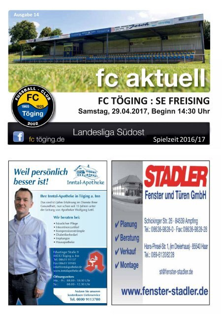 """""""fc aktuell"""" Saison 2016-17 Ausgabe 14"""
