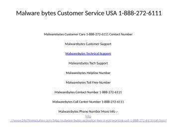 Malware bytes Customer Service USA 1-888-272-6111