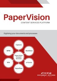 Document Options - PaperVision Mailer preview