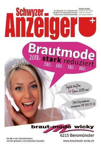 Schwyzer Anzeiger – Woche 37 – 14. September 2018