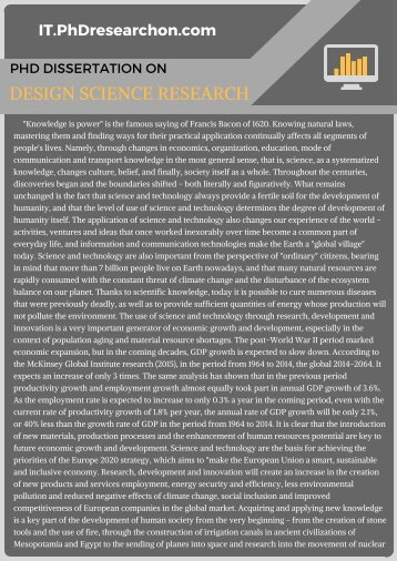 PhD Dissertation on Design Science Research Sample