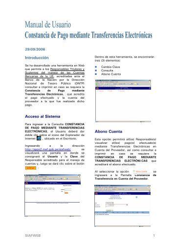 Manual de Usuario de la Constancia de Pago
