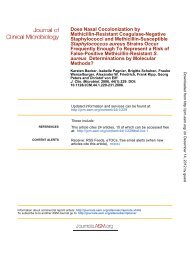 aureus - Journal of Clinical Microbiology - American Society for ...