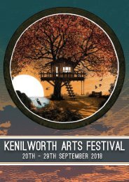 Kenilworth Arts Festival 2018 Programme