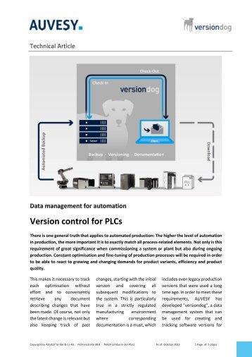 Version Control for PLCs