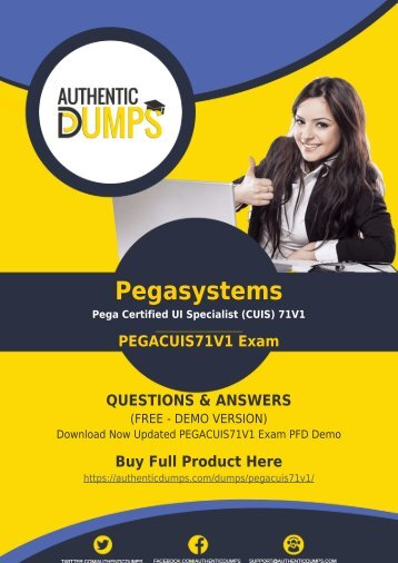 PEGACUIS71V1 Exam Dumps | Prepare Your Exam with Actual PEGACUIS71V1 Exam Questions PDF