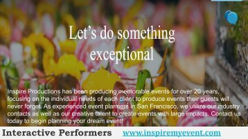 Event Planning Companies San Francisco