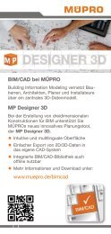 MÜPRO MP Designer 3D   CAD-Bibliothek   BIM DE