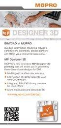 MÜPRO MP Designer 3D  BIM/CAD library EN