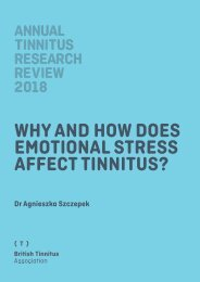 ATRR 2018 Why and how does emotional stress affect tinnitus FINAL